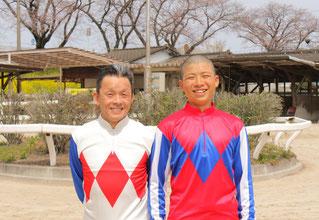 東川慎騎手と父の東川公則騎手