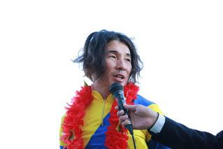 インタビューに答える池田敏樹騎手