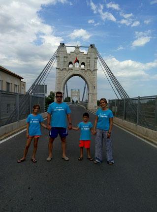 La família Garcia-Eiximeno al Pont Penjant d'Amposta!