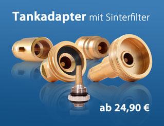LPG-Adapter mit Sinterfilter zum Wechseln