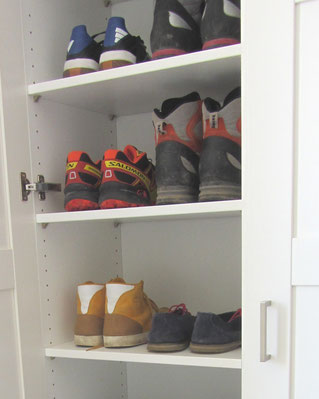 My shoe storage...