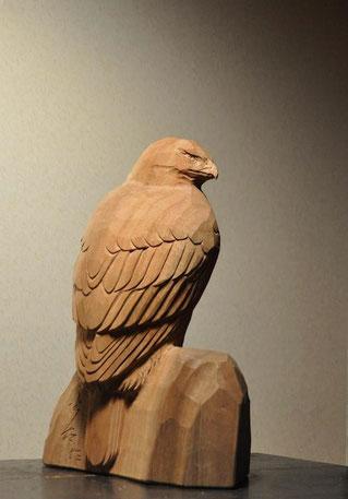 木彫り 鷹