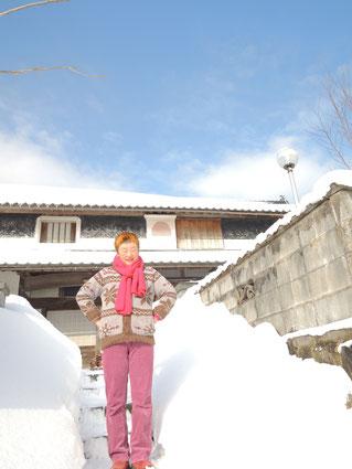2015年2月、雪