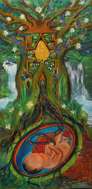 Folil, placenta, Paz treuquil, arbol madre, cosmovision mapuche, ñimin