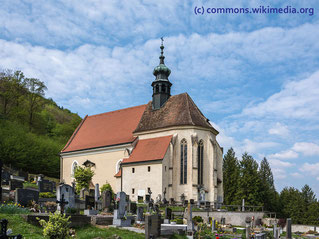 Die Kirche St. Blasius mit seinem Friedhof liegt in der kleinen Gemeinde Klein-Wien, in der Nähe von Furth bei Göttweig.