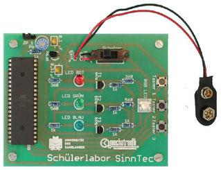 Schülerlabor SinnTec: Experiment Licht- und Farbwahrnehmung mit menschlichen und technischen Augen