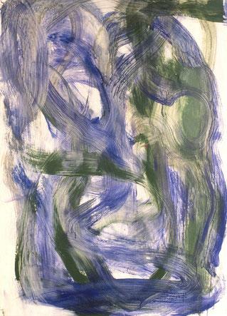 水場d.9   acrylic  on paper 105.2×76cm