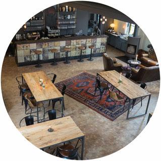 Gastraum des Projekt Gastraum in Illertissen Bar Concept Store Eventlocation, von der Empore