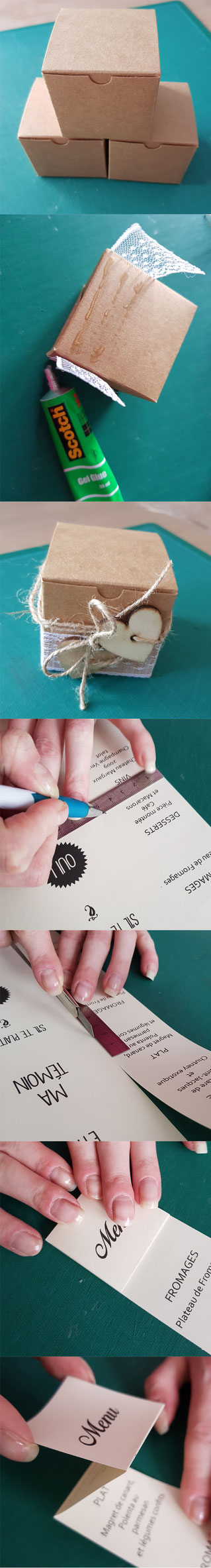 Étapes de création du menu original - Crédit photo : Hésione Design