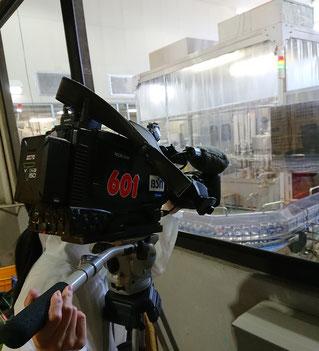 BSN新潟放送の取材風景