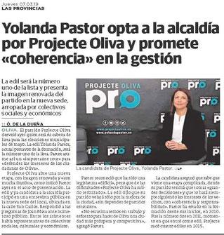 LAS PROVINCIAS - Presentación Candidatura Yolanda P.