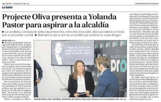 Presentación Candidatura Yolanda P.
