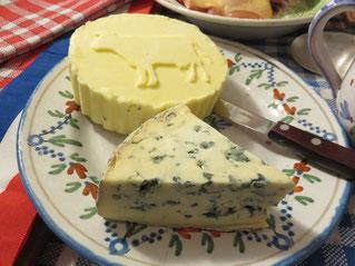 Beurre de Normandie et Bleu d'Auvergne AOP