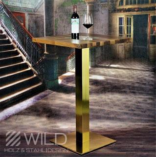 Modern designer bar table goldet