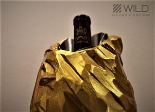 wine cooler gold