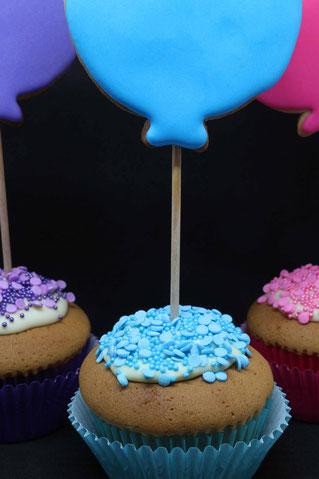 Ballon Cupcakes