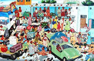 Un peintre au BURKINA - Les tableaux d'Inno
