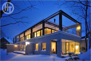 冬景色 ニセコの別荘