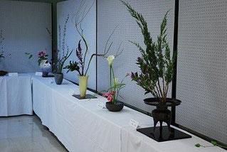25年芸術祭賞 茶華道連合会の華道展
