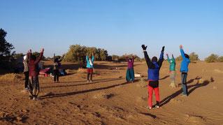 Voyage Qi Gong désert Maroc