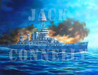 """Battleship of Texas in Action"" Final by Jack Connelly"