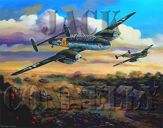 """ME-110's Over Russia"" Final by Jack Connelly"