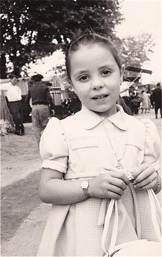 Edith CHABOT à la fête du hameau du 3 mai 1961