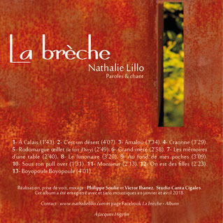 Nathalie Lillo album la brèche
