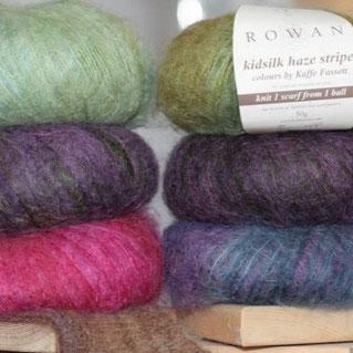 Rowan Wolle in verschiedenen Qualitäten und Farben