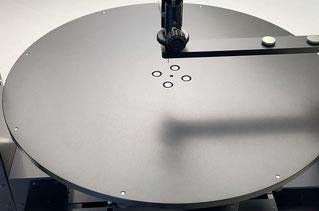 ディスク用ステージ付き接触角計