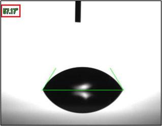 画像③. 視点Bから見た液滴