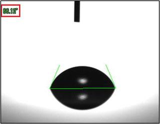 画像②. 視点Aから見た液滴