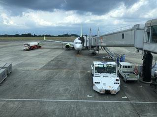 帰りの飛行機写真