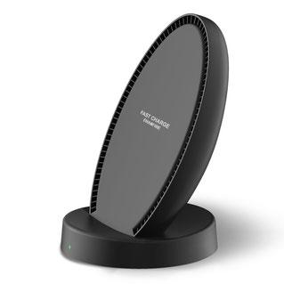EnacFire Qi ワイヤレス充電器 冷却ファン付き スタンド型 QC 2.0急速充電