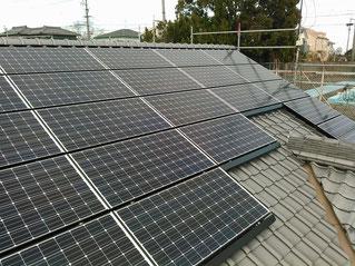 和風瓦の上にも太陽光取り付け可能です!