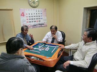 毎年4月の麻雀会 強い方は常勝です。