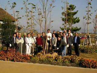 2005年秋の清掃活動前の記念写真