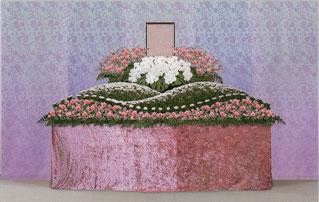 胡蝶蘭 生花祭壇