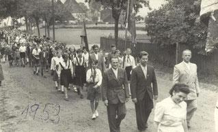 Bild: Wünschendorf Sportplatz 1953