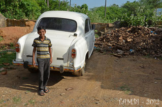 R. Dinesh near a car - 2012