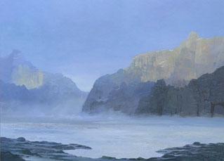 """Martin Guido Becker """"Nach dem Regen"""", 2016, Öl/Lwd, 50/60 cm"""