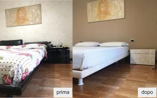 restyling letto, restyling comodino, recupero camera da letto