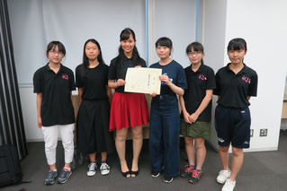 総合5位、女子の部1位(4チーム中)となった浦和第一女子高等学校チーム。学校での「同好会昇格」のため実績が必要だったのですが、強豪女子チームに競り勝っての嬉しい入賞となりました。