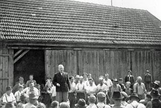 1953 Feierabend - Firstbaumrückgabe (Otto Straßl)