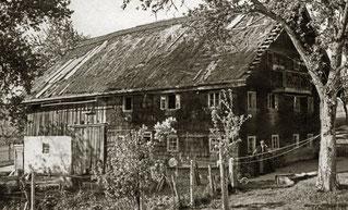 """1930 (ca) """"Taubnhansl"""" (Maier) in Glatzing"""