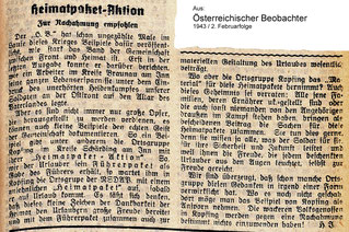 1943 Heimatpaket - Aktion in Kopfing