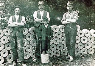 1938 Ach: Steinhauer mir den erzeugten Presswalzen