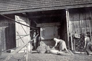 1938 Maschindrusch beim Ertl in Kimleinsdorf