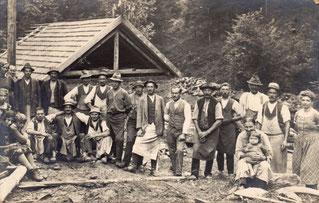 1923 Gleichenfeier des 2. E-Werks im Licht