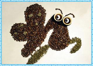 Кофейная картинка матылька